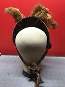 Antique / Vintage - Women Hat - Straw And Feathers