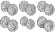 Set Of 2021 Morgan Cc, O, S, D, P Silver Dollars And Peace Dollar 6 Coins Total