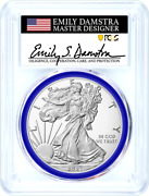 2021-w Proof Silver Eagle Type 2 Pcgs Pr70dcam First Strike Emily Damstra