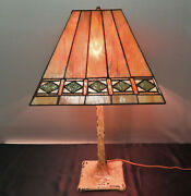 Chicago Mosaic Lamp Co. Stained / Leaded Glass Lamp Ca. 1910