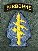 Original Vietnam Era Sf Special Forces Cut Edge Ssi Patch With Tab