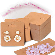Willbond 100 Pieces Earring Card Holder Jewelry Display Cards 200 Pieces Earrin