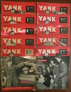 Vintage Wwii Lot Of 10 Yank The Army Weekly British Edition Paper 1944 V242-51