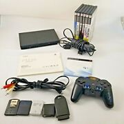 Sony Ps2 Playstation 2 Fat Black Scph-39001 Bundle Games Memory Cards Cable