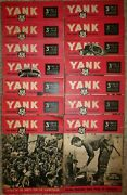 Vintage Wwii Lot Of 14 Yank The Army Weekly British Edition Paper 1944 V315-28