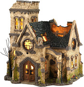 Department 56 4036592 Snow Village Halloween The Haunted Lit House, 9.06 Inch