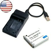 Battery + Usb Charger For Canon Ixy 200f 10s 30s 31s 32s Usa Stock Brand New