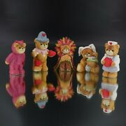 Vintage Lucy And Me Enesco Bears Easter Thanksgiving Halloween Figurines Lot 5