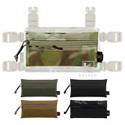 Krydex Tactical Front Candy Zipper Pouch Hook Back For Chest Rig Plate Carrier