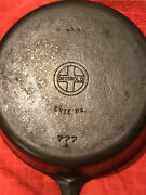 Griswold No. 8 Small Block Logo 777 A Cast Iron Chicken Fryer 10.5 X 3 Vtg