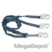 Falltech 8259y 6and039 Shock Absorbing Y-leg Lanyard With 3 Snap Hooks
