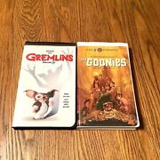 Gremlins And The Goonies Vhs Video Tapes Vcr Movies Holiday Gift Clearance Sale