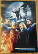 Fantastic 4 Rise Of The Silver Surfer Movie Promotional Poster 2007 27x40 Four