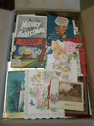 1400+ Vintage Greeting Card Lot Christmas, B-day, Easter, Children ++, 20'-70's