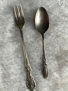 Community Baby Spoon White Orchid Silver Plate And Orig. Wm. Rogers Pickle Fork
