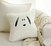 Nwt Pottery Barn Peanuts Snoopy Pillow Cover Sherpa Fall Leaves Sold Out