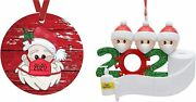 2 Pack 2021 Christmas Ornaments Personalized Isolation Survivor Family Holiday C