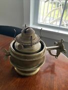 Vintage Hicks And Smith Brass Oil Lantern Lamp - Patented 1876 - Queen Anne