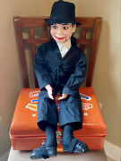 1968 Charlie Mccarthy Ventriloquist Doll And Case By Juro Novelty Co