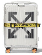 Rimowa Off-white Transparent Trolley Suitcase Luggage 4-wheels Carry-on