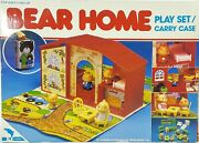 Vintage Bear Home Family 20pc Play Set Carry Case W/ Furniture Jumbo Intl' New