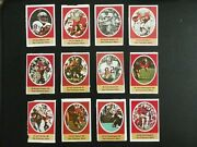 1972 Sunoco Football Stamps San Francisco 49ers Complete Set All 24 Stamps