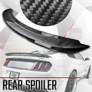 Wing Spoiler Lid For 2015-2021 Ford Mustang Gloss Carbon Fiber Gt350 Gt550 Style