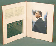 Vince Lombardi - Autographed Signed Check 12/10/1959