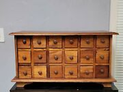 Vintage Apothecary Cabinet With 18 Drawers Wood Storage Chest