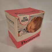 Vintage Pampers Daytime Diapers 11lb+ 30 Pack Box 16 Diapers Good Box