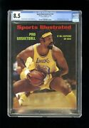 Sports Illustrated Newsstand 1972 Wilt Chamberlain Cgc 8.5 Fifth Cover Highest