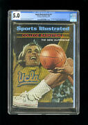 Sports Illustrated Newsstand 1966 Lew Alcindor Cgc 5.0 First Rookie Cover