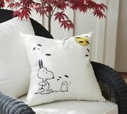 Nwt Pottery Barn Peanuts Happy Halloween Snoopy Indoor/outdoor Pillow Sold Out