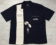 Seattle Seahawks Official Licensed Gear Menand039s Bowling Shirt Strike Size Xl Nwt