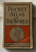 Rare 1902 Pocket Atlas Of The World By Rand Mcnally And Co Chicago-new York