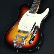 Used C37 Ast Telecaster Semi Hollow With Bigsby Tone Sunburst Guitar
