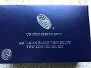 2013 Silver Eagle West Point Two Coin Set Mint W/box