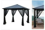 10 Ft. X 10 Ft. Gazebo. Roof Is Not Sheet Metal. Its A Replacement.