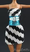 Monster High Dollfrankie Steindawn Of The Dancestriped Dress With Belt