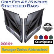 Ravager Series Airbrushed Stretched Extended Side Cover Pannel For 2014+ Harley