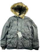 Nos Nwt Abercrombie And Fitch Mt. Washington Parka Jacket Gray Size M Early 2000s