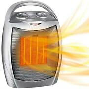 Portable Electric Space Heater With Thermostat 1500w/750w Ceramic Heater Fan