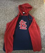 St Louis Stl Cardinals Adult Performance Long-sleeve Hooded Pullover Sga 9/12/21