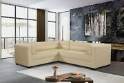 Iconic Home Lorenzo Left Facing Sectional Sofa L Shape Pu Leather Upholstered