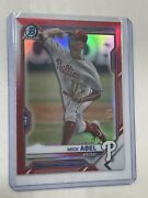 Mick Abel 2021 Bowman Chrome Prospects Red Refractor 4/5 Phillies