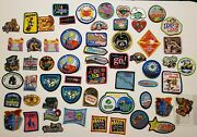 Huge 60 Pc Lot Vintage Girl Scout Fun Patches Cookies Fun