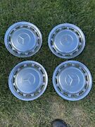 Vintage Mercedes Benz Full Wheelcovers For 14 Inch Wheels 60's-early 80's