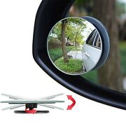 2 X Blind Spot Mirror Rear View Adjustable Towing Car Van Motorcycle Wide Angle