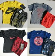 Nike Boys 2t 8pc Summer Shorts And T-shirts 188 Retail Yellow Black Blue New