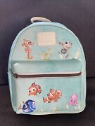 Loungefly Disney Pixar Finding Nemo Watercolor Character Mini Backpack Nwt